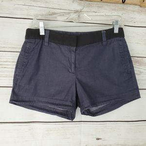 J. Crew   Dark Chambray w Black Trim Shorts